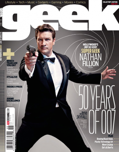 Geek Magazine- Nathan Fillion