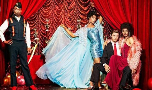 4_Pose_Entertainment Weekly_MJ Rodriguez, Evan Peters, Billy Porter