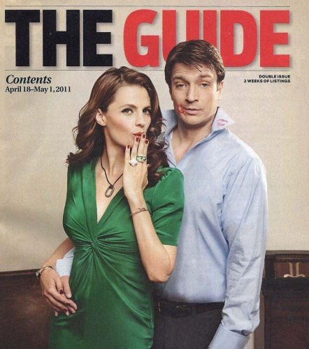 TV Guide- Stana Katic, Nathan Fillion