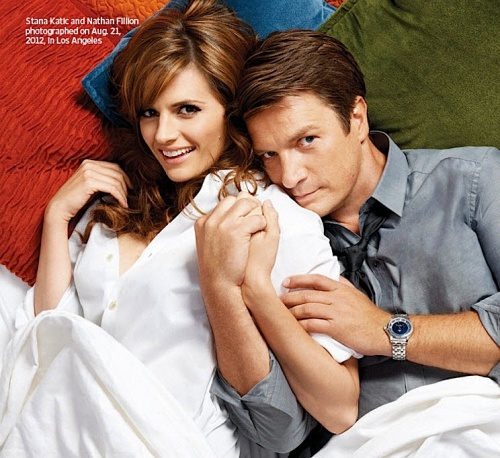 Entertainment Weekly- Stana Katic, Nathan Fillion