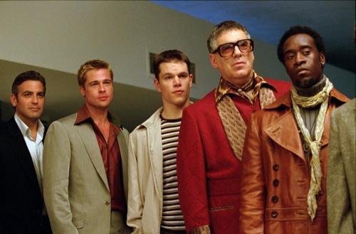 Ocean's 11- Brad Pitt, Matt Damon, Elliot Gould & Don Cheadle