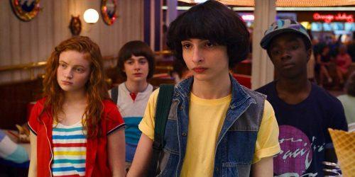 Stranger Things- Sadie Sink, Noah Schnapp, Finn Wolfhard, Caleb McLaughlin